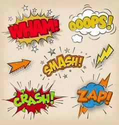 Grunge Comic Sounds set2 vector image vector image