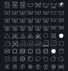 laundry care symbols vector image vector image