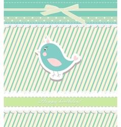 Vintage doodle bird for frame wallpaper vector image vector image