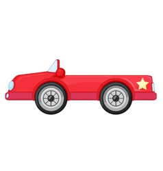 a red car vector image