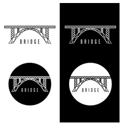 Abstract bridge construction set design template vector