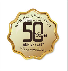 Anniversary retro label 50 years vector