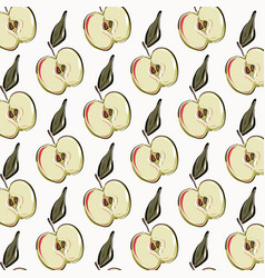 apple repetition pattern fruit vegetarian organic vector image