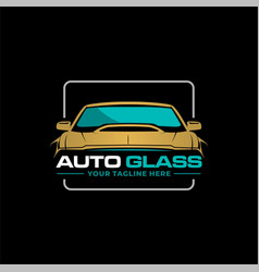 Auto glass logo vector