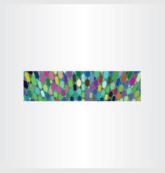 Banner colorful background design vector