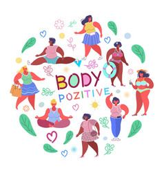 body positive flat style design vector image