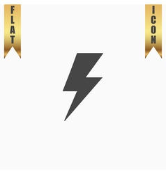 bolt flat icon vector image