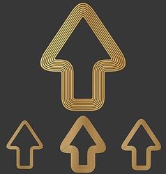 Bronze line forward logo design set vector