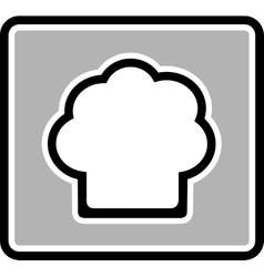 Chef hat gray icon vector