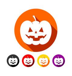 classic halloween pumpkin flat icons vector image