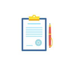 clipboard with document icon in flat style vector image