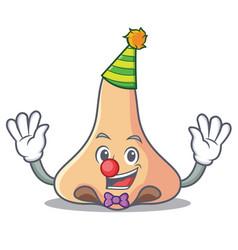 Clown nose mascot cartoon style vector