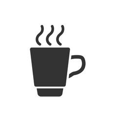 Coffee tea cup icon in flat style coffee mug on vector