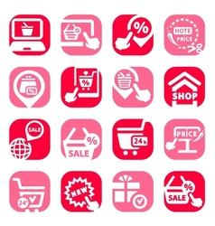 color shopping icons vector image