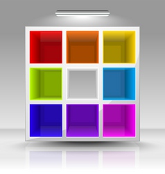 colored shelves vector image