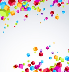 Colorful bright cube exploded particle background vector