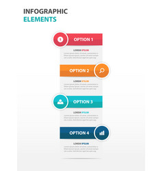 Colorful text box business infographics elements vector