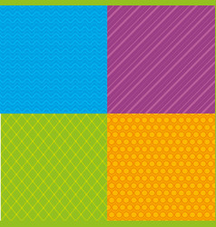 colors and styles patterns backgrounds vector image