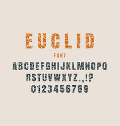 Decorative alphabet font vector