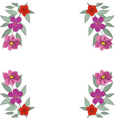 Decorative flowers frame vector