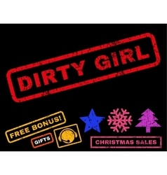 Dirty girl rubber stamp vector