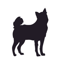Dog stands silhouette vector
