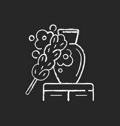 Dusting chalk white icon on black background vector