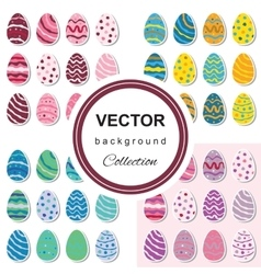 Easter egg background set vector image