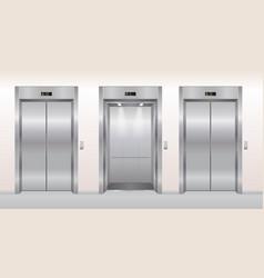 Elevator doors cartoon flat vector