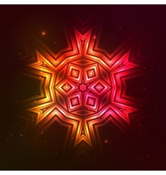Fire red star vector image
