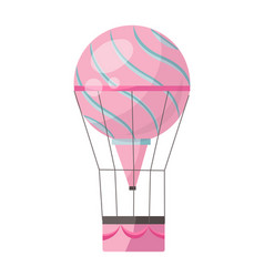 Flat hot air-balloon romantic vector