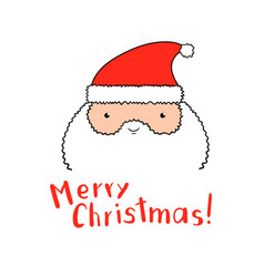funny santa claus with christmas lettering in vector image