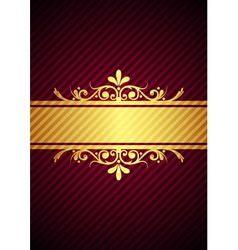 gold bourdeaux background vector image