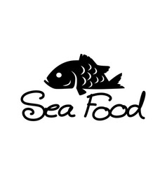 graphic sea food vector image