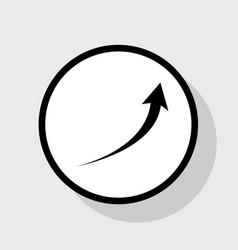 growing arrow sign flat black icon in vector image