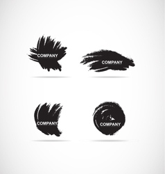 Grunge brush logo icon set vector