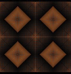 Halftone 3d rhombus seamless pattern half tone vector