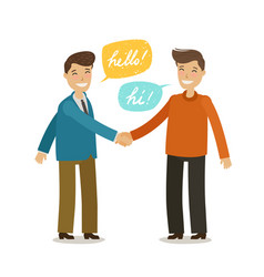 Handshake shaking hands friendship concept vector