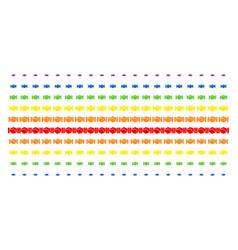 handshake shape halftone spectral grid vector image