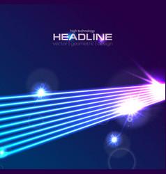 hi-tech futuristic neon laser rays abstract vector image