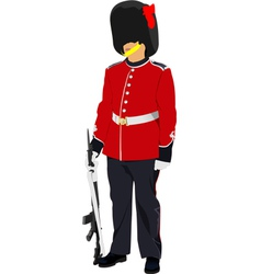 image of beefeater isolated on white vector image