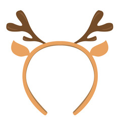 Isolated headband icon with moose horns vector