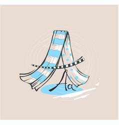 letter a stylized alphabet light textile vector image