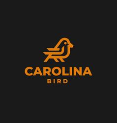 logo carolina bird line art style vector image