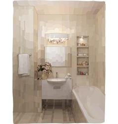 Luxury bathroom interior vector image