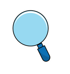 Magnifying glass tool to search and read vector