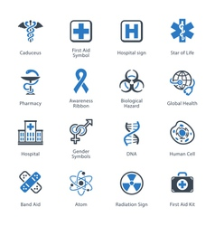 Medical and Health Care Icons Set 1 - Blue Series vector image
