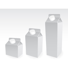 Milk cart vector image vector image