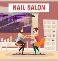 Nail salon background vector