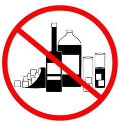 No alcohol zone vector image
